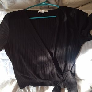 Cute almost new black wrap top